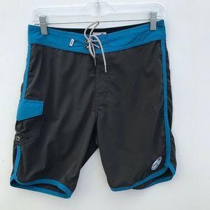 Vans Swim Board Shorts Mens Blue Gray #621